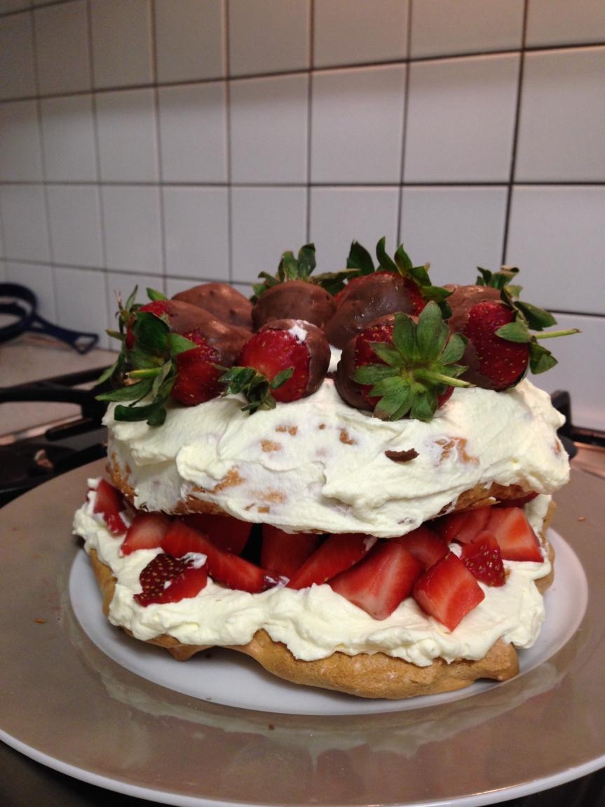 Strawberry and CreamPavlova