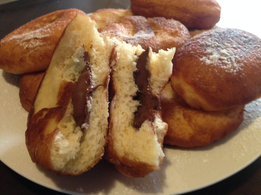 nutella filled donut