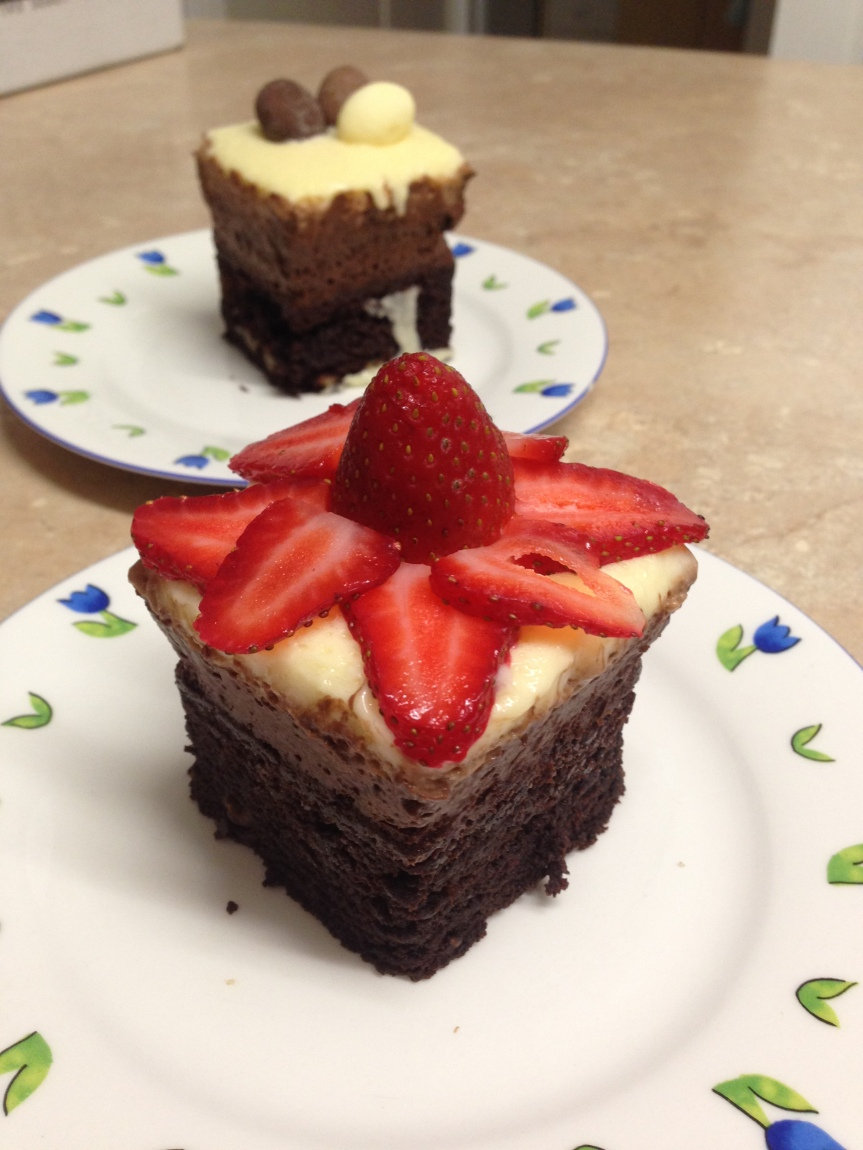triple chocolate mousse brownie
